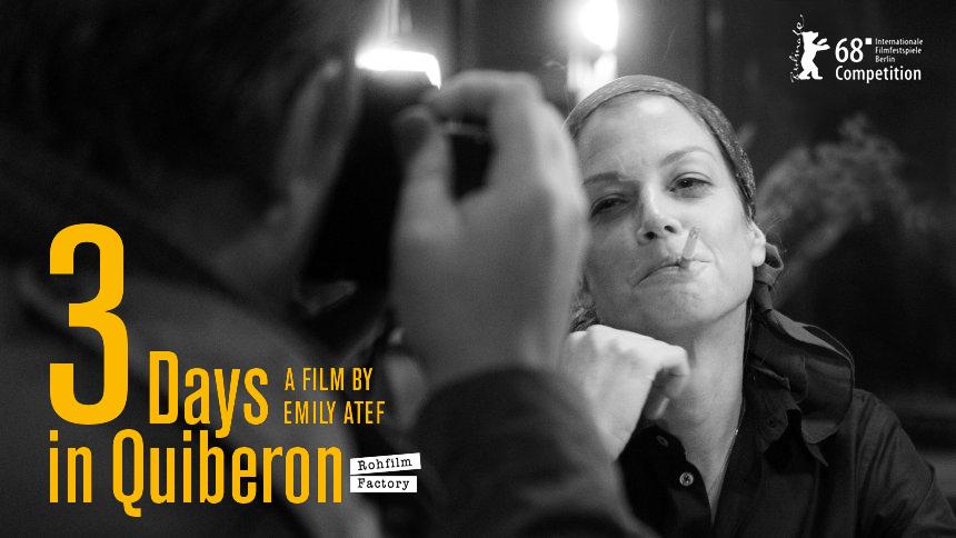 3 Tage in Quiberon   3 Days in QuiberonLand: DEU/AUT/FRA 2018Regie: Emily AtefBildbeschreibung: Marie BäumerSektion: WettbewerbDatei: 201818984_1.jpg© Rohfilm Factory / Prokino / Peter Hartwig